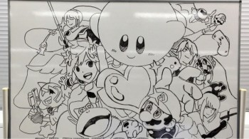 Sakurai whiteboard Smash Bros. drawing