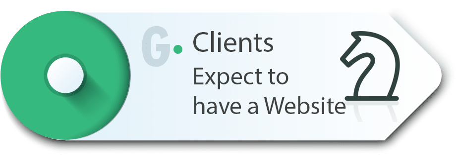 Client expect have a website