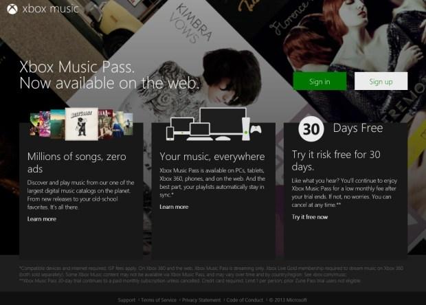 Xbox-Music-Web-version