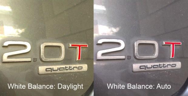 Desire 500 Camera White Balance