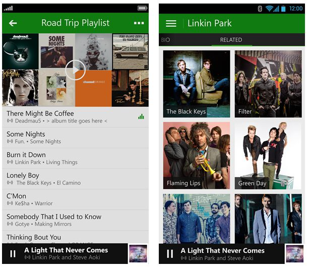 xbox music ios android