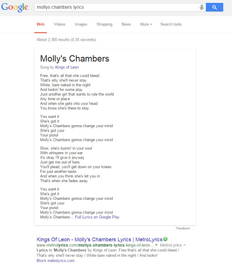 google-serps-lyrics