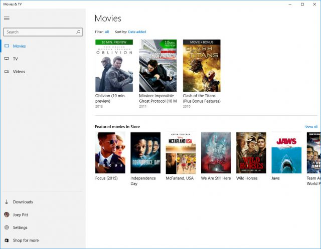 Movies-and-TV-app