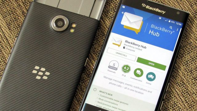 BlackBerry Hub on BlackBerry Priv running Android
