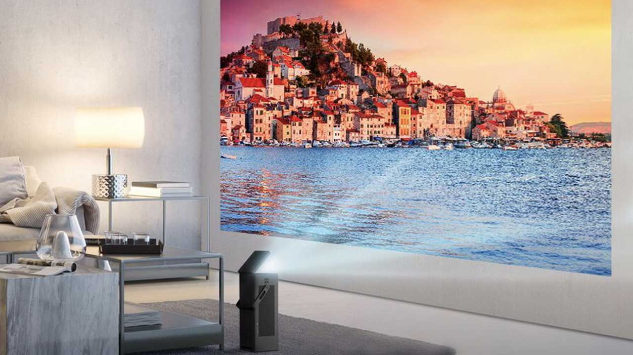 LG HU80KA 4K Projector Stands Upright