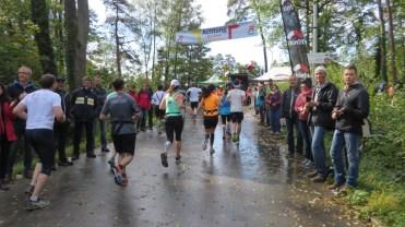 Die Halbmarathon Abzweigung