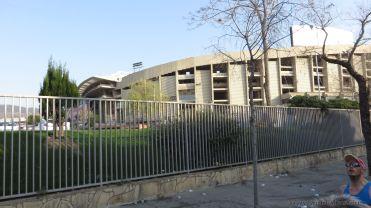 Camp Nou hier steppt der Bär auch am Marathonsonntag