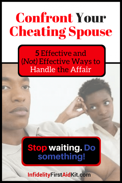 How to confront your husband about cheating