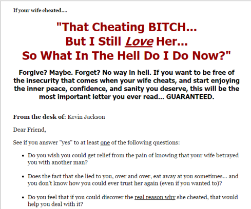 learn to confront your cheating wife