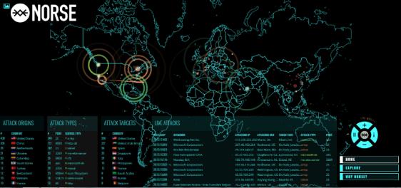 Mappa in tempo reale dei cyber crimini commessi nel mondo