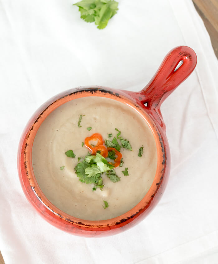 Roasted Parsnip and Fennel Soup | www.infinebalance.com #vegan #recipe