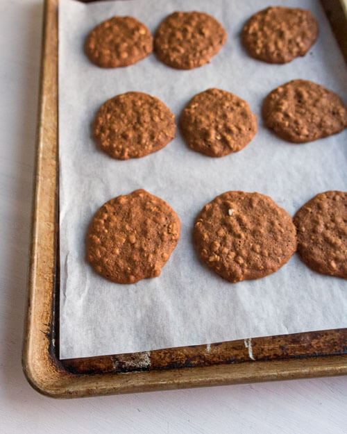 molasses cookies after baking
