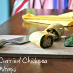 curried chickpea wraps - www.infinebalance.com