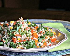 Cilantro and Kale Slaw | The infinebalance Food blog #summer #BBQ