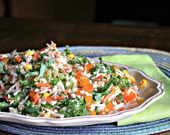 Cilantro and Kale Slaw | The infinebalance Food blog #summer #BBQ