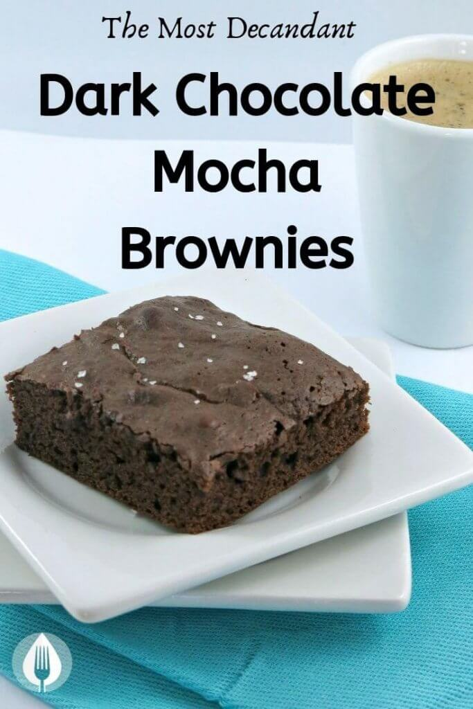 dark chocolate mocha brownies