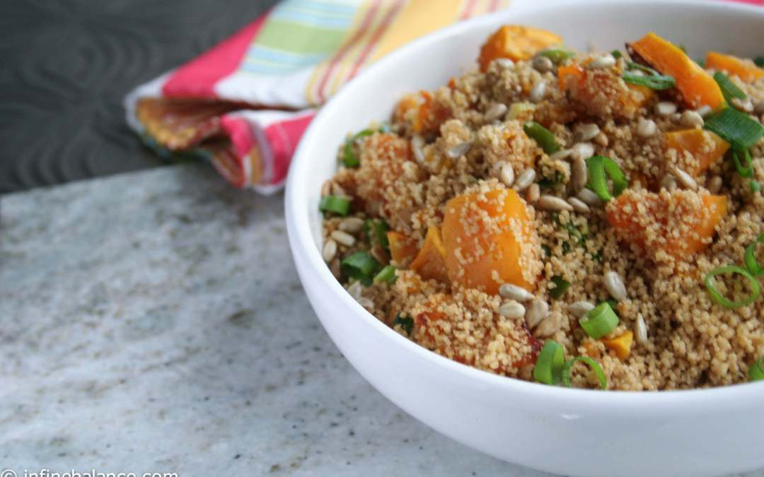 Whole Wheat Couscous with Roasted Pumpkin