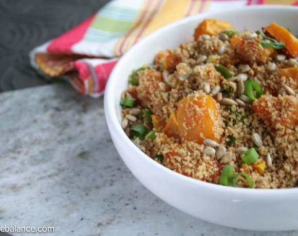 whole wheat couscous with roasted pumpklin