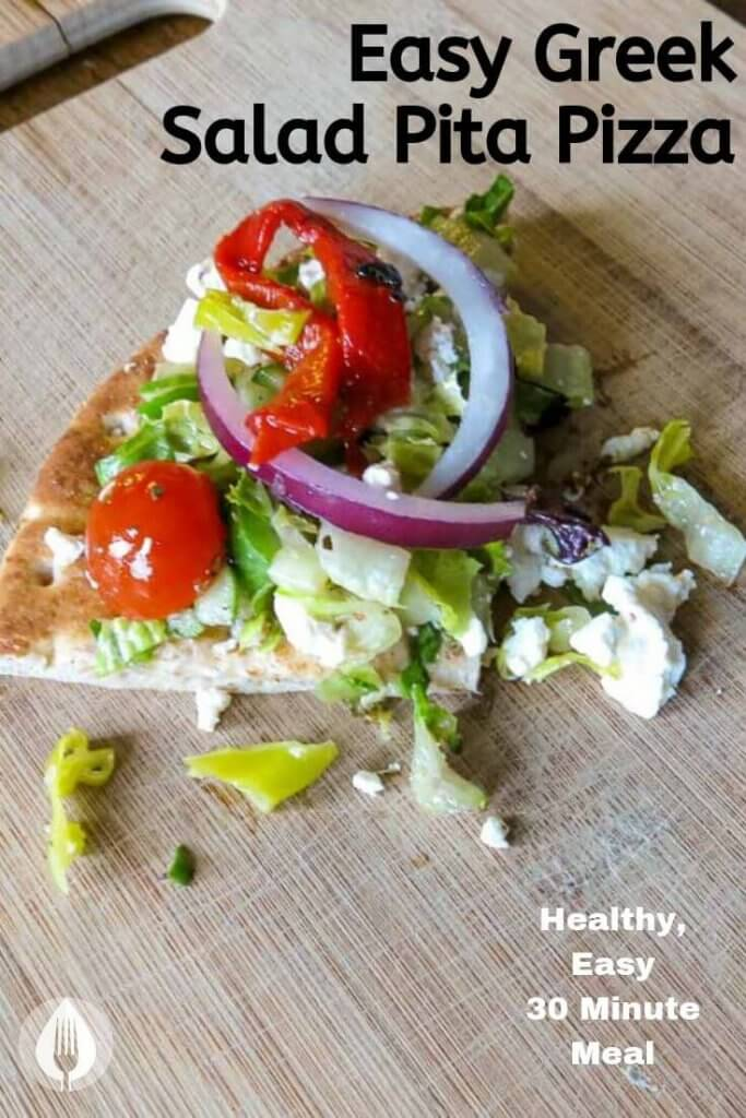 greek salad pita pizza