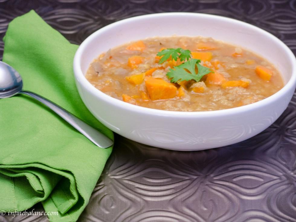 sweet potato soup   www.infinebalance.com