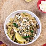 Fusilli with Mushroom and Feta | www.infinebalance.com