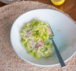 Brussels Sprouts salad with walnuts | www.infinebalance.com