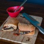 Eggplant Parm Pizzaburgers | www.infinebalance.com #meatlessmondays