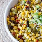 Sweet Corn and Green Chili Slaw | The infinebalance Food blog - because it is not quite a #salad