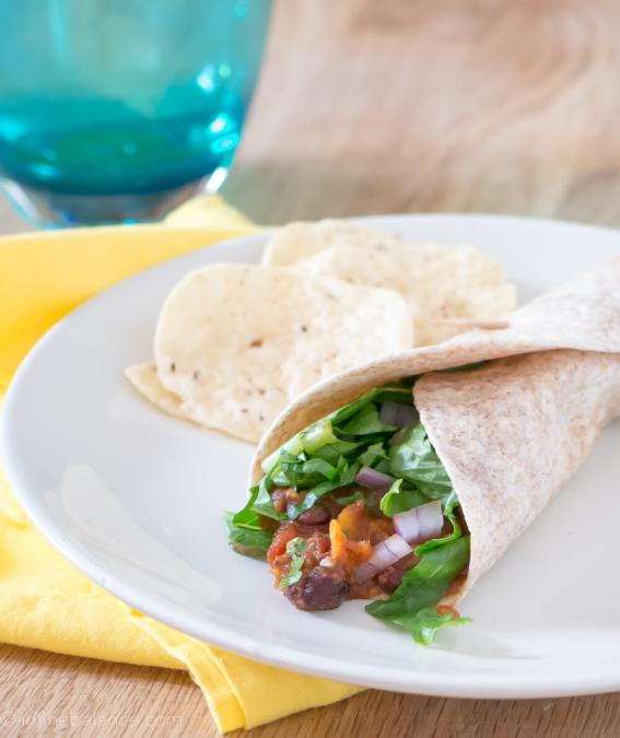 Crockpot Vegetarian Tacos – with Black Beans and Sweet Potatoes