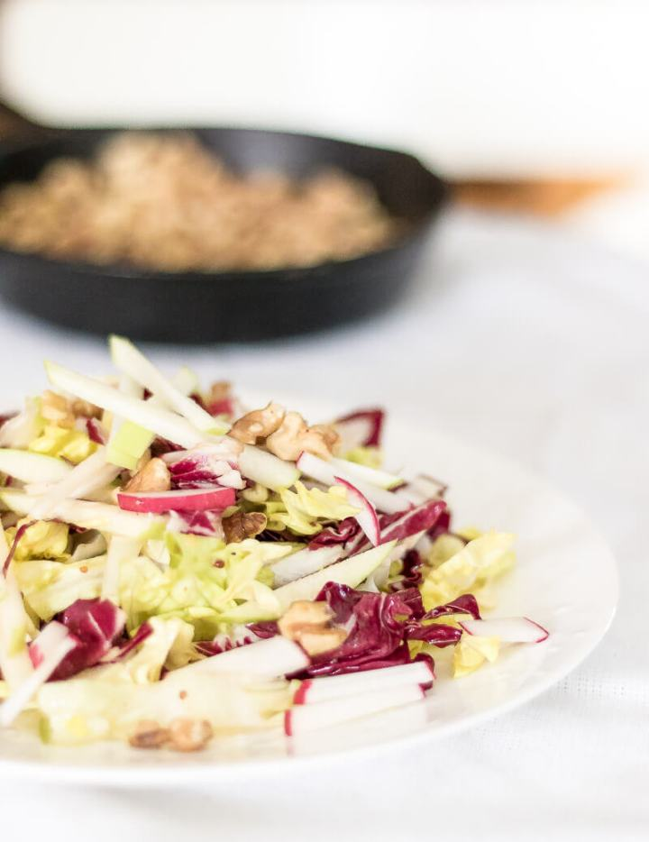 Apple and Radicchio Salad with Walnuts | the infinebalance food blog