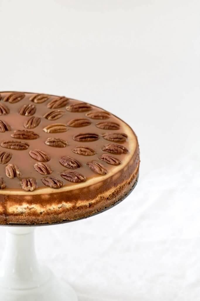 Spiced Whisky Pecan Pie Cheesecake |www.infinebalance.com #recipe
