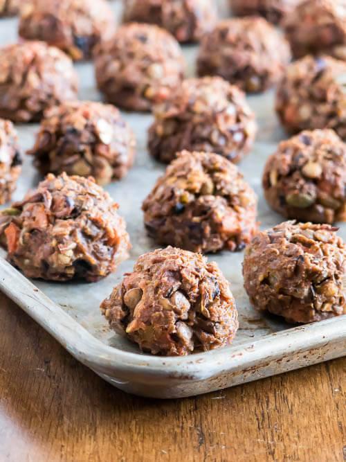 Vegetarian Lentil Meatballs | www.infinebalance.com #recipe