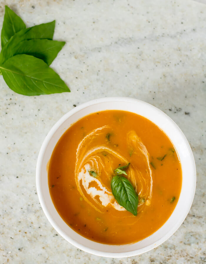 Slow Cooker Tomato Soup | www.infinebalance.com #recipe