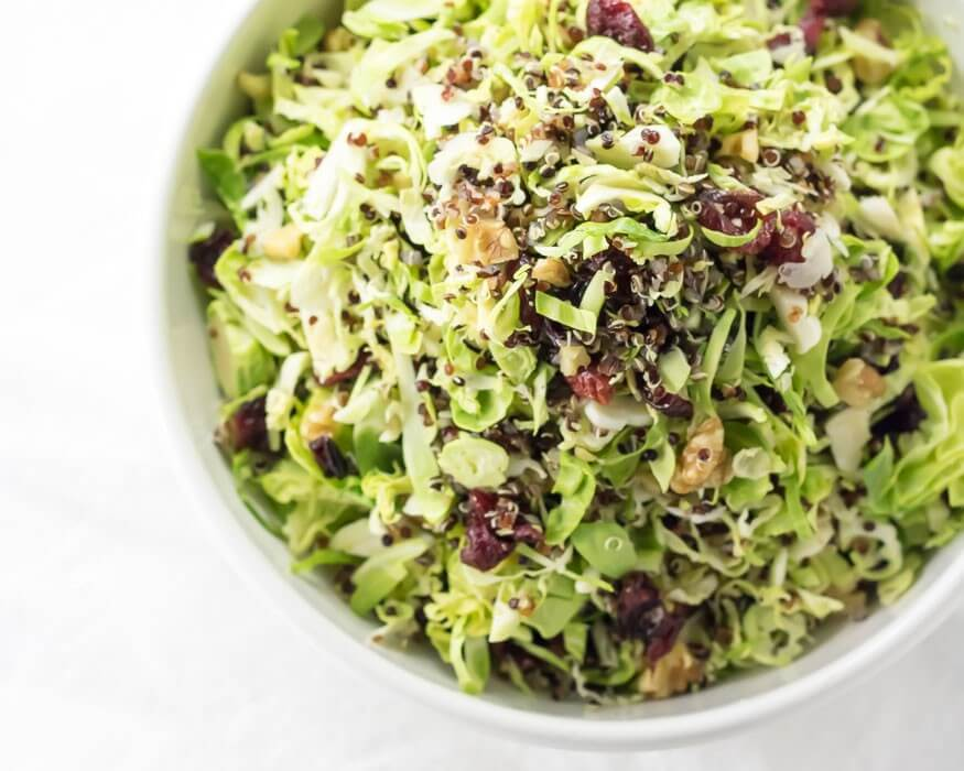 Shaved Brussels Sprout and Cranberry Salad