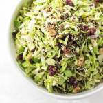 Shaved Shaved Brussels Sprout Salad with Cranberry and Quinoa | The infinebalance Food blog