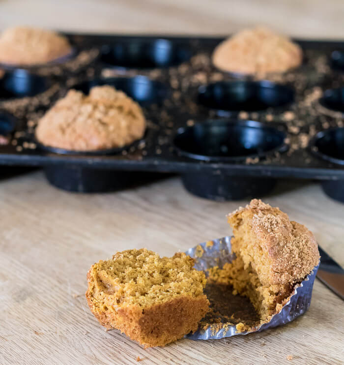 Sugar and Spice Pumpkin Butter Muffins