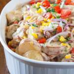 summer potato salad with swet corn