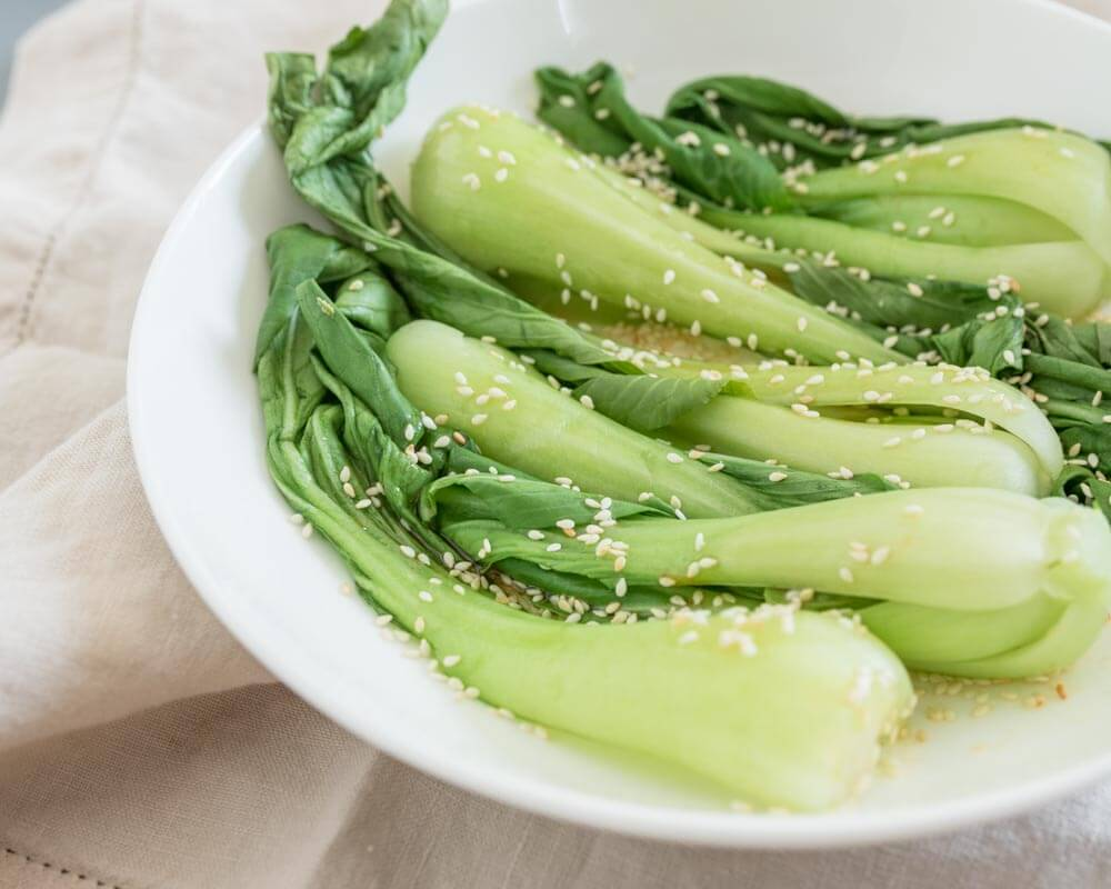 Easy Steamed Baby Bok Choy