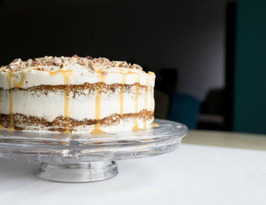 Pumpkin Spice Layer Cake with Whipped Cream Cheese Frosting
