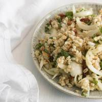 Barley Salad with Sweet Onions + Sundried Tomatoes