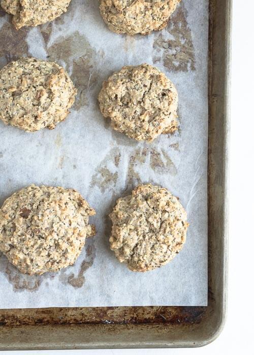 multigrain scones on a baking tray