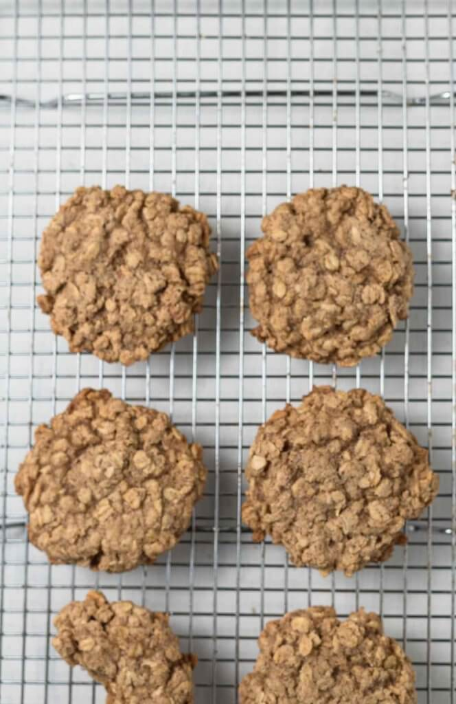 granola breakfast cookies on a cooling rack