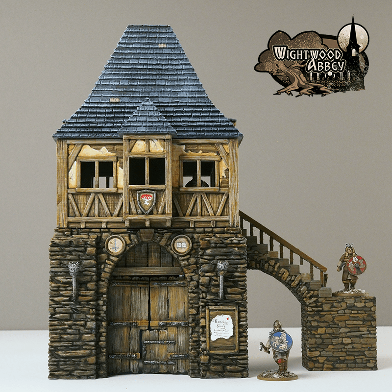 3D printable medieval gatehouse