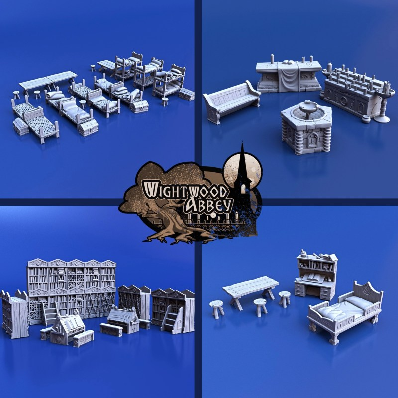 3D printed medieval furniture