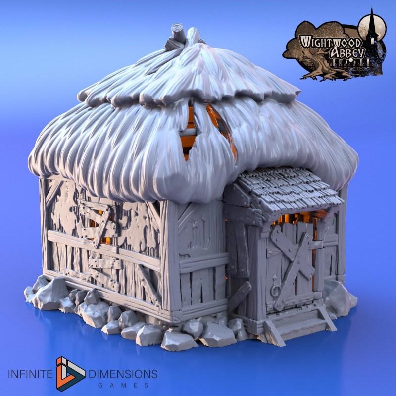 3d printable prison hut / quarantine