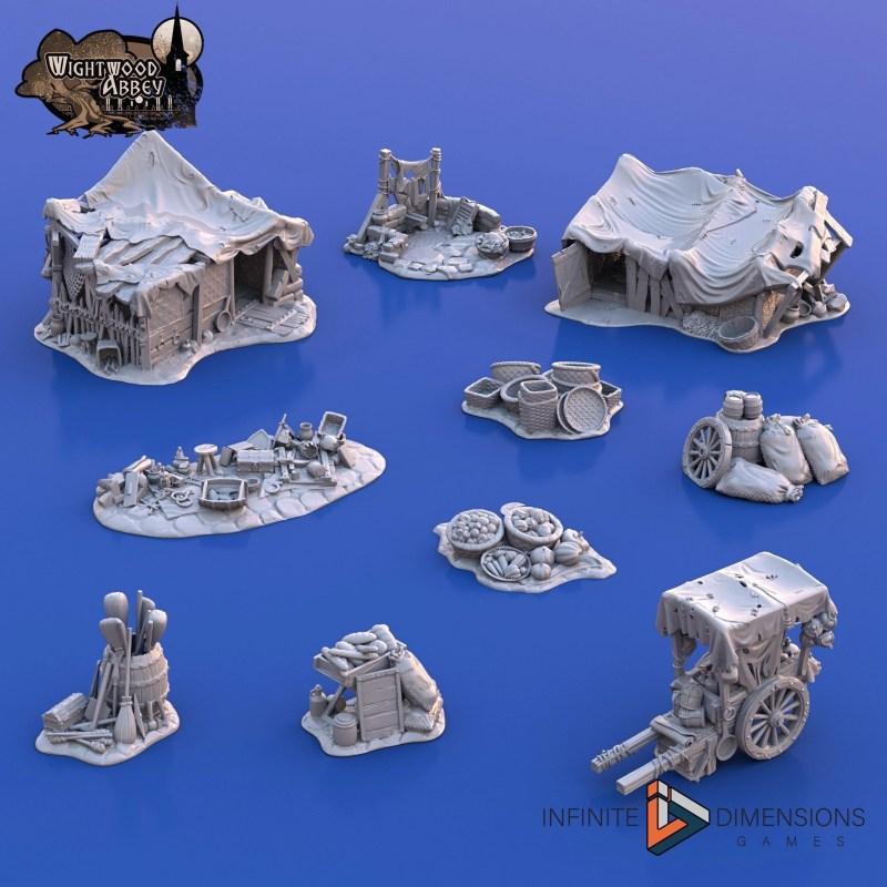 3D printablemedieval slums