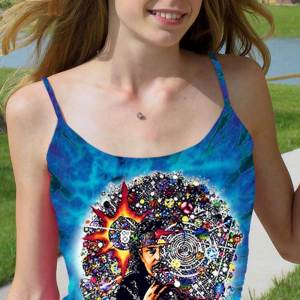 Pigpen Grateful Dead Tank Top Women's Inspired - Hog - Women's purple tie dye, 100% cotton sleeveless tank top.