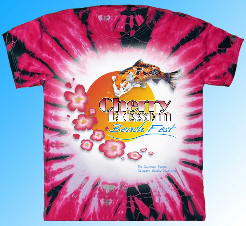 Cherry Blossom Beach Fest T-shirt Design