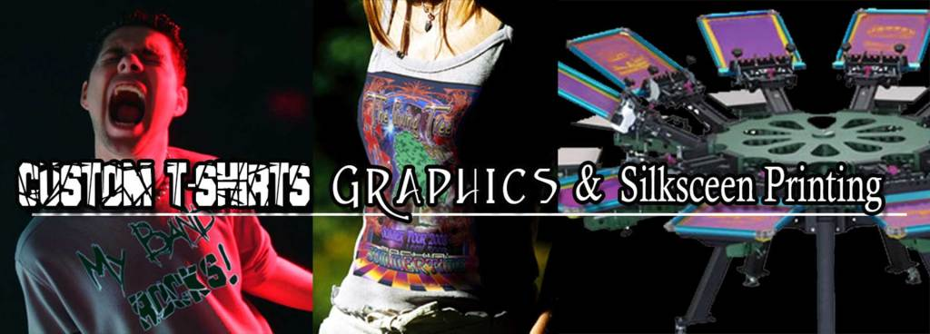Custom T-shirt Design, Band Graphics and Promotional Merchandise