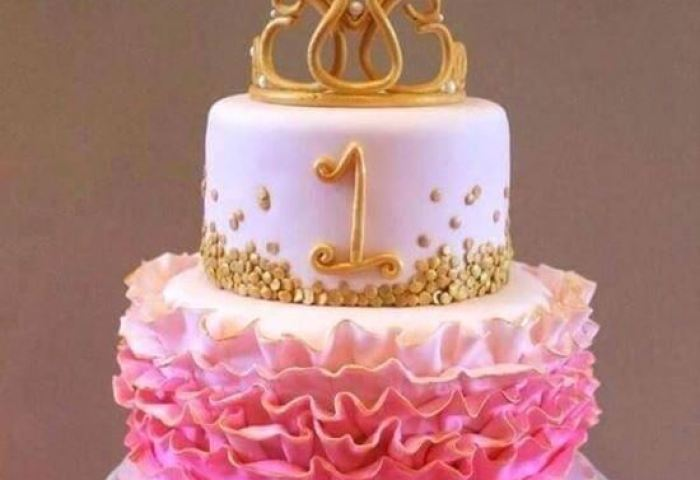 First Birthday Baby Girl Cake 1 Online Online Cake Delivery